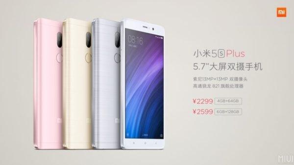 Xiaomi's Mi 5s Plus Price