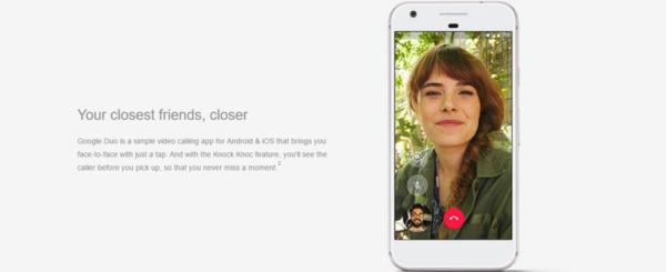 Duo on Google Pixel
