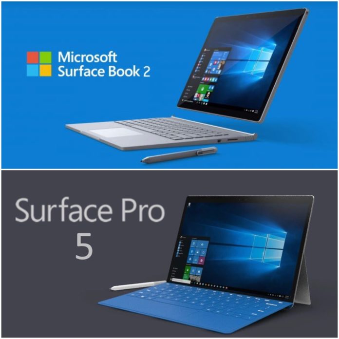 Microsoft Surface Pro 5 & SurfaceBook 2 Specs and Kaby Lake Chipset