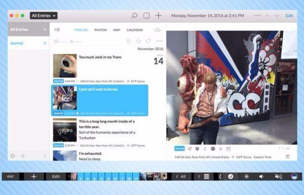 Day One App In MacBook Pro TouchBar