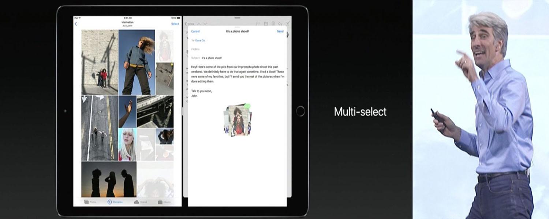 iOS 11 iPad Multi Select Feature