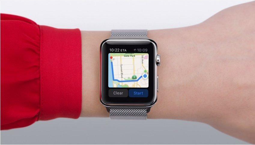 Apple Watch Using Maps