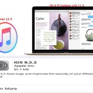 iOS 9.3.2, OS X El Capitan v10.11.5 And iTunes 12.4 Features