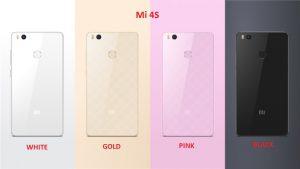 Mi 4S Colors Image