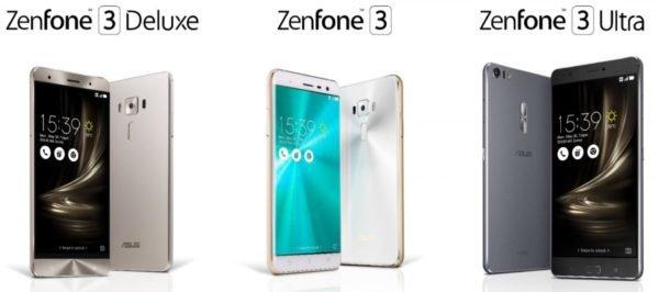 ZenFone 3,ZenFone 3 Delux,ZenFone 3 Lazer,ZenFone 3 Ultra