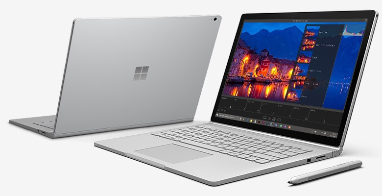 Surface Book Interface