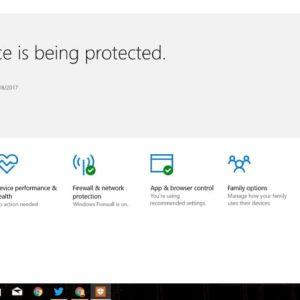 Windows Security Creators Update