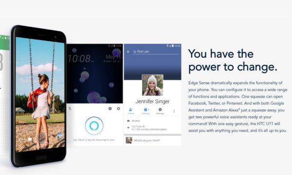 HTC U11 Squeze Feature