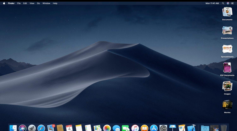 Stack View Organized Folder