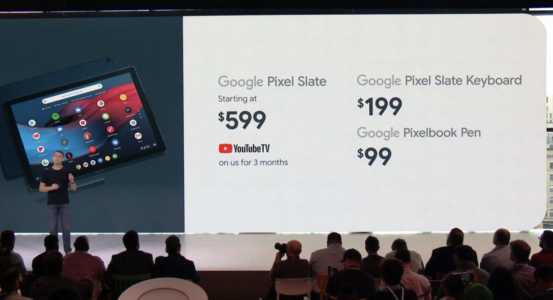 Google Pixel Slate Pricing